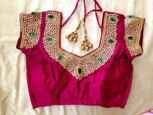 different indian blouse neck designs